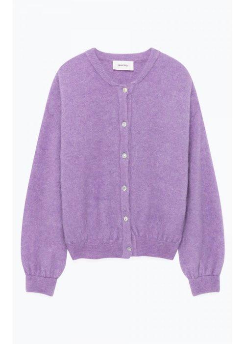 American Vintage Zabidoo Cardigan Vest Mauve Purple Melange