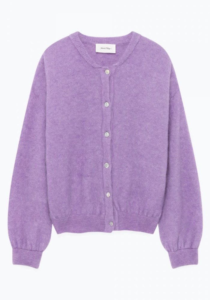 Zabidoo Cardigan Vest Mauve Purple Melange