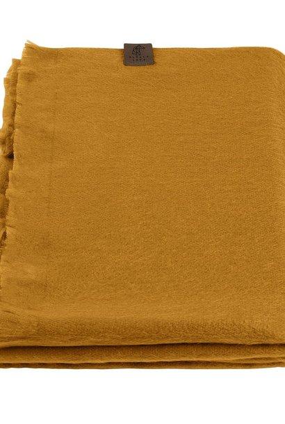 Alpaca Wool Scarf Ocher Yellow