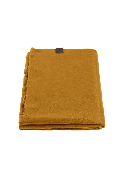 Alpaca Wool Scarf Yellow