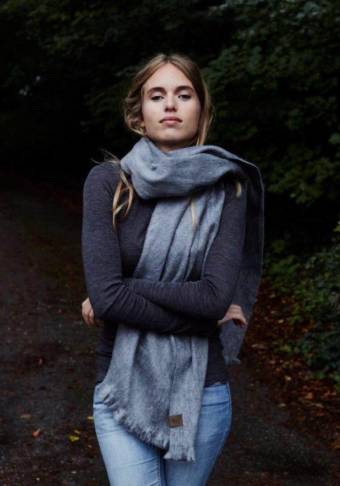 Alpaca Wool Scarf Grey