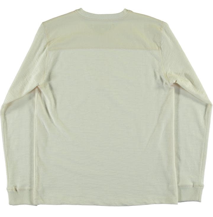 T-Henley Heavy Slub Off White-2