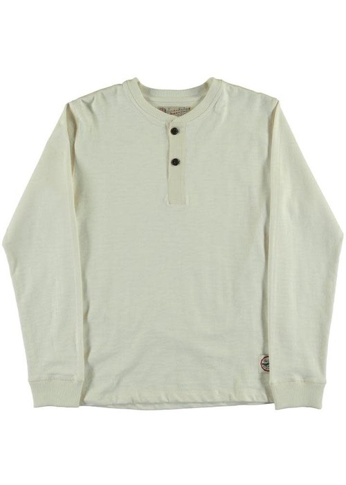 Eat Dust T-Henley Heavy Slub Off White