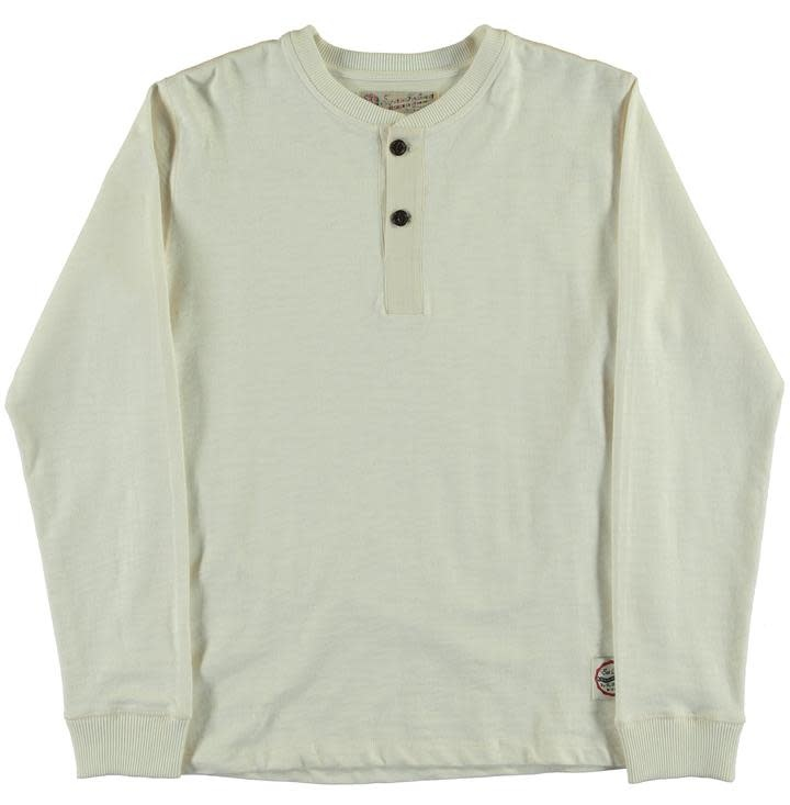 T-Henley Heavy Slub Off White-1