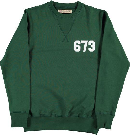 College Heavy Fleece Sweat Green-1