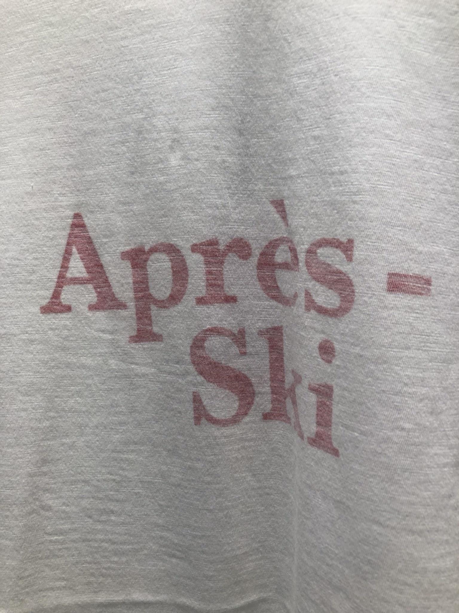 Aprers-ski Cotton T-shirt White-3