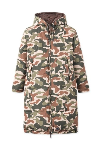 Rhymes Reversible Puffer Jacket Brown Camo