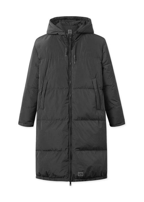 Brixtol Textiles Rhymes Reversible Puffer Jacket Black Navy