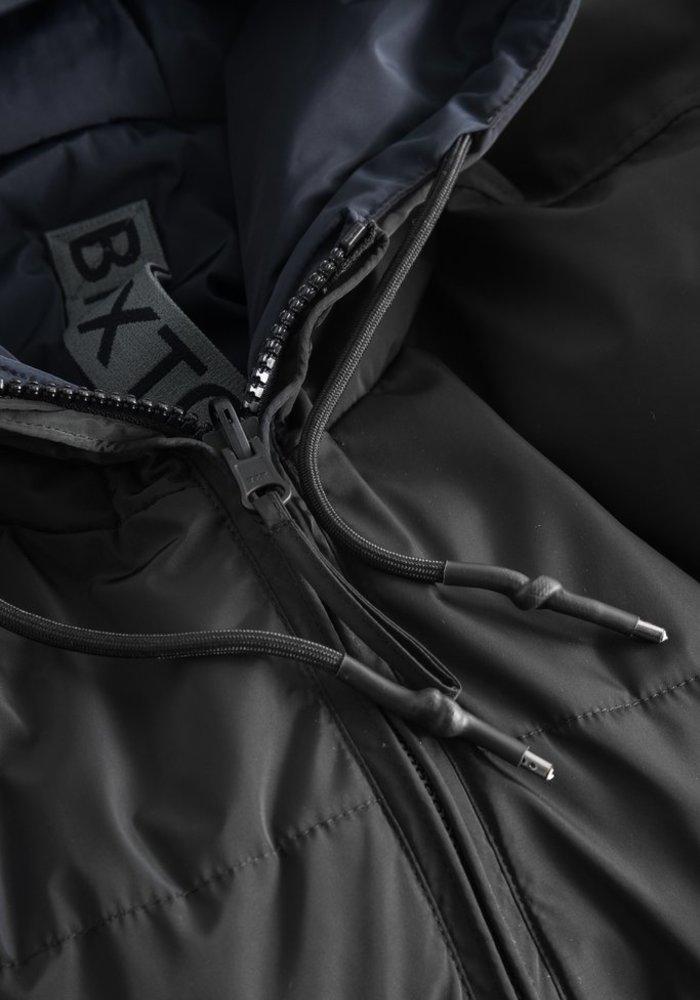Rhymes Reversible Puffer Jacket Black Navy