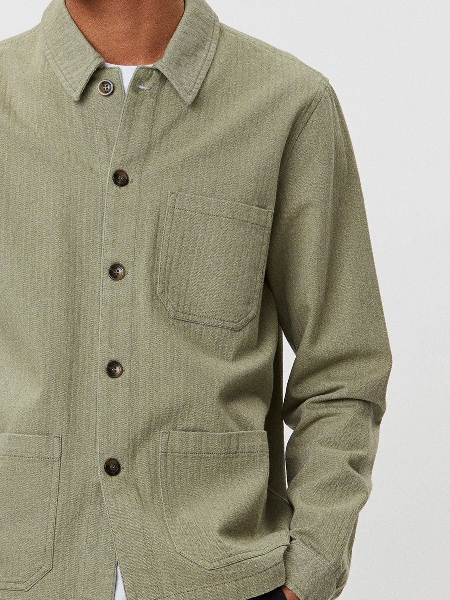 Napoli Work Shirt Saga Green-3