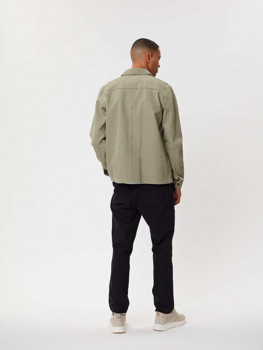 Napoli Work Shirt Saga Green-5