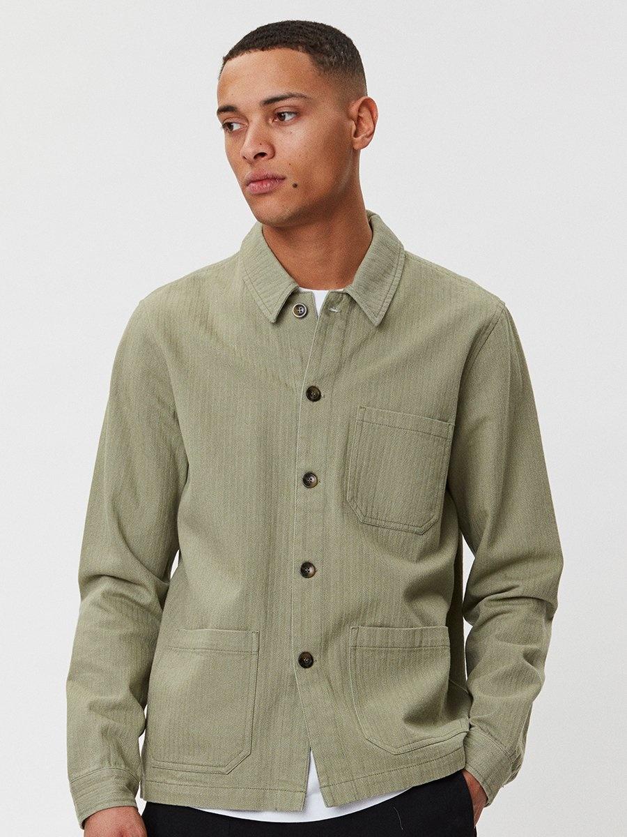 Napoli Work Shirt Saga Green-1