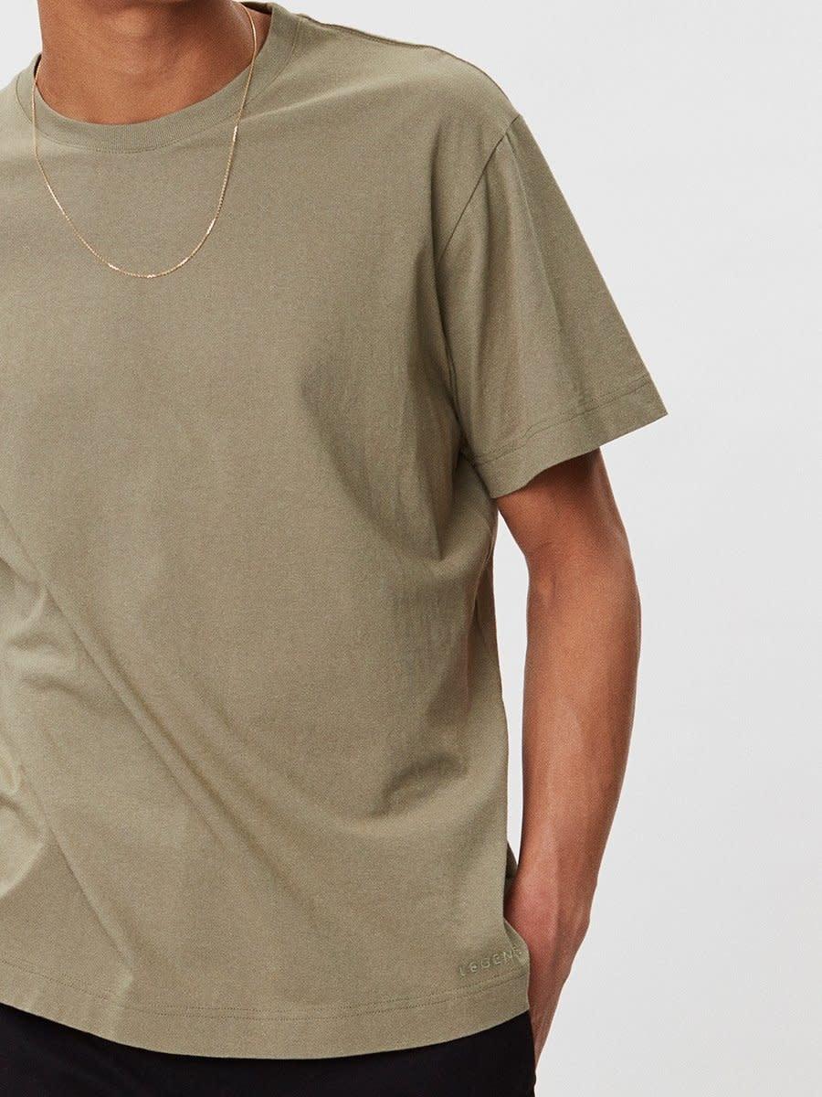 Delano Cotton T-Shirt Sage Green-3
