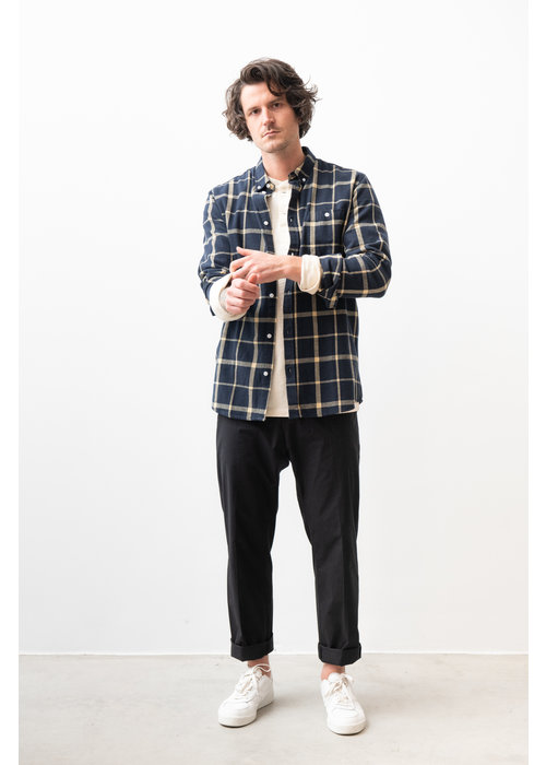 Suit Rufus Navy Checked Shirt