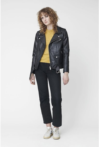 Biker Jacket Black Leather Women