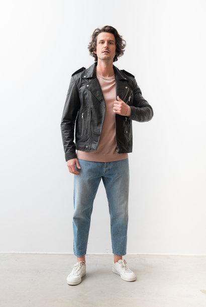 River OG Recycled Black Leather Jacket