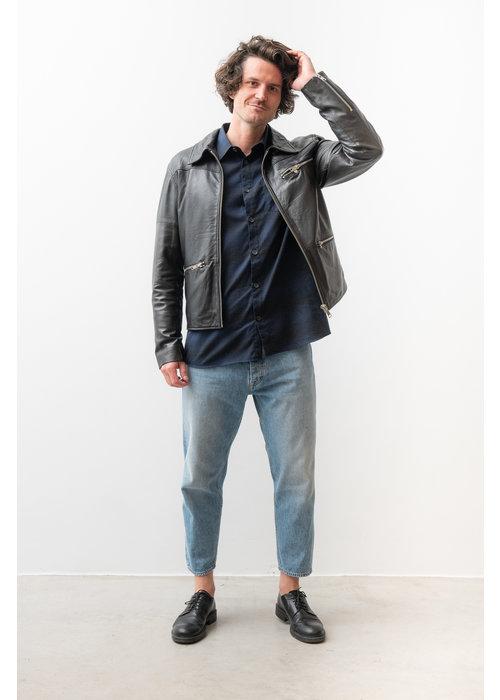 Deadwood Samson Recycled Leather Jacket Black
