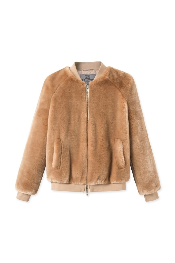 A J Faux Fur Khaki Brown-1