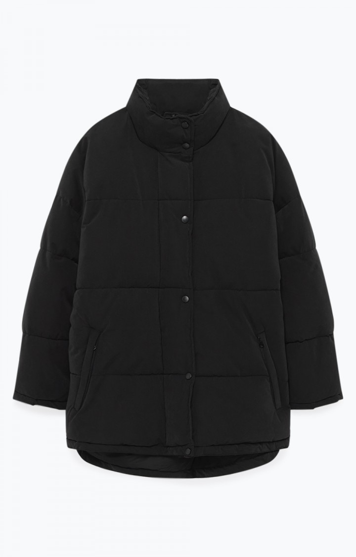 kenibird Black Puffer Jacket-1