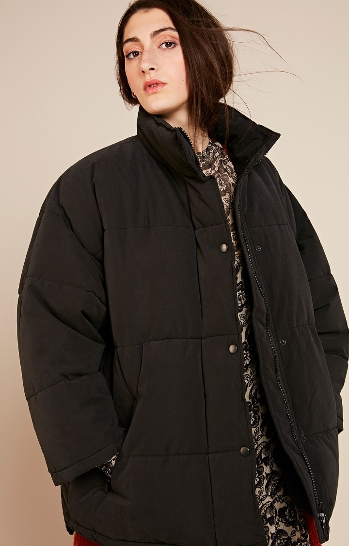 kenibird Black Puffer Jacket-2