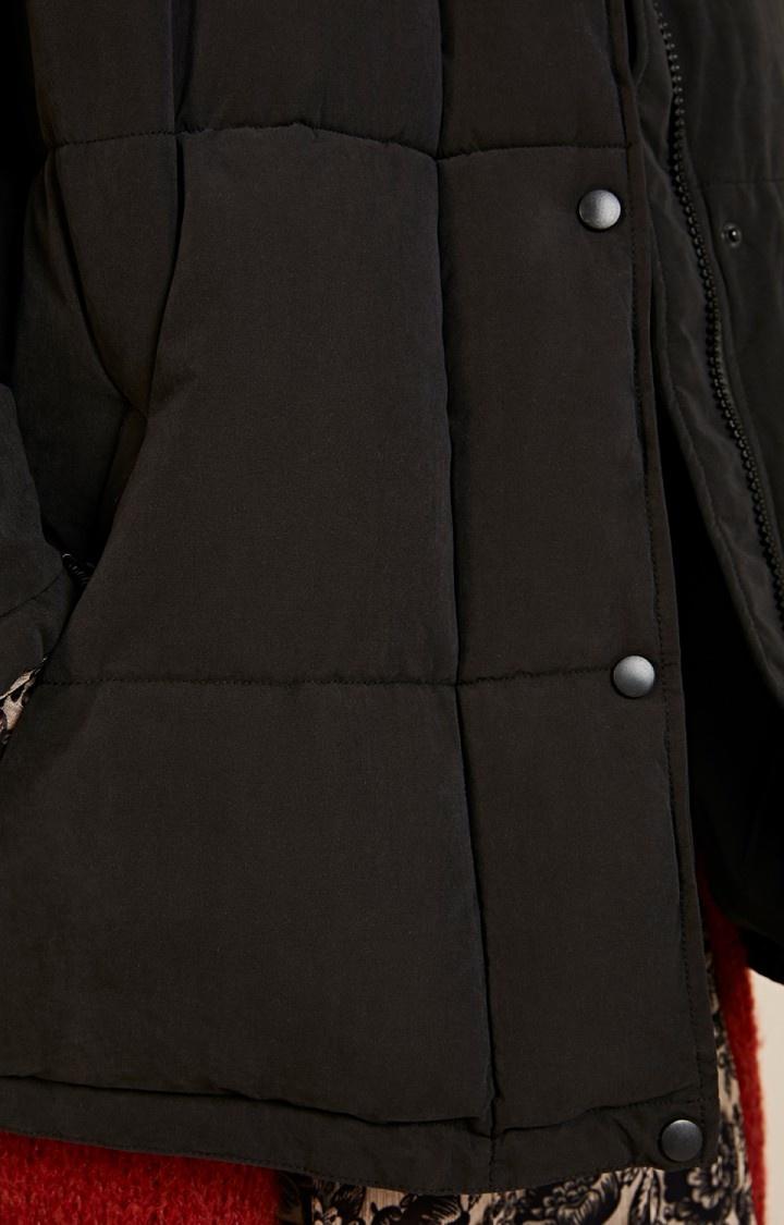kenibird Black Puffer Jacket-3