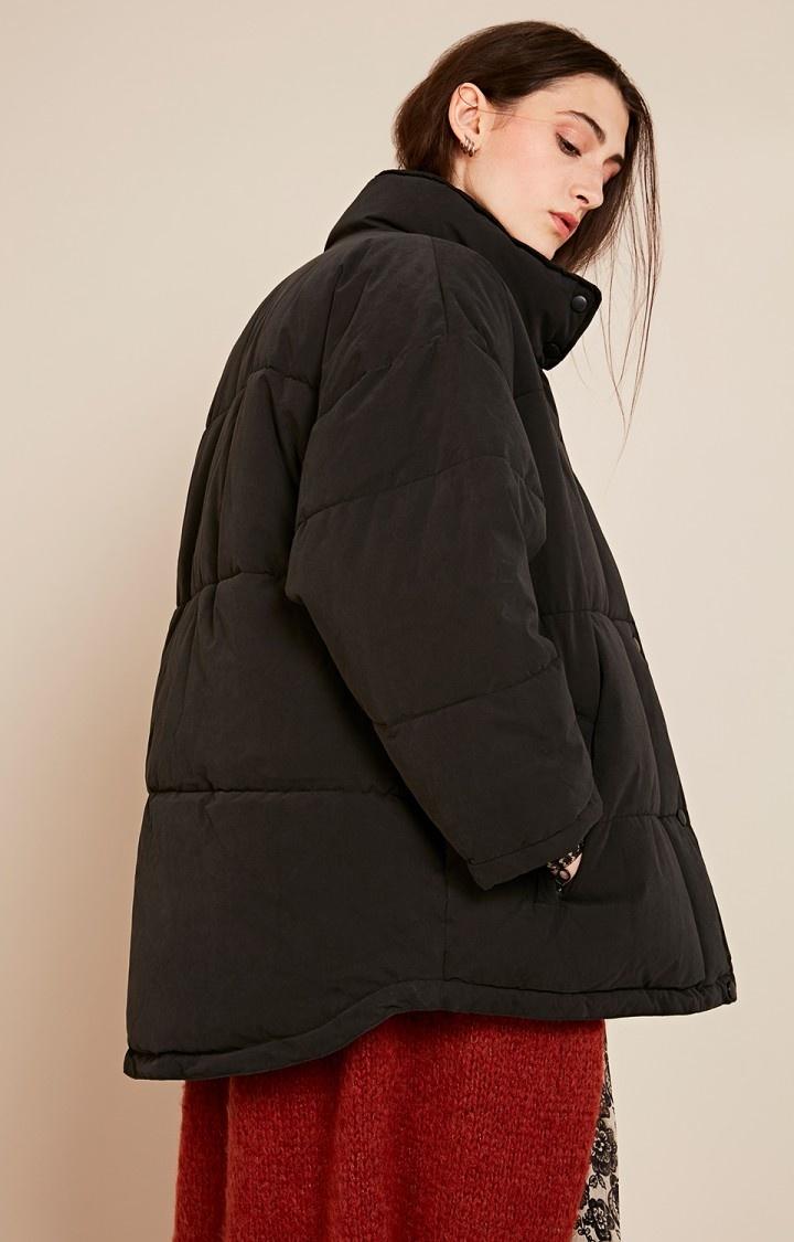 kenibird Black Puffer Jacket-4