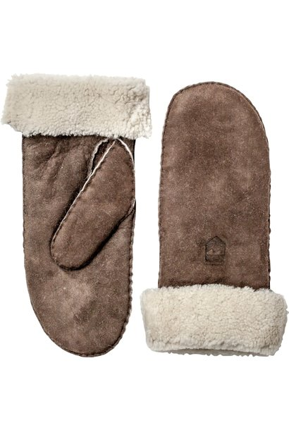 Sheepskin Leather Mitt Espresso Brown