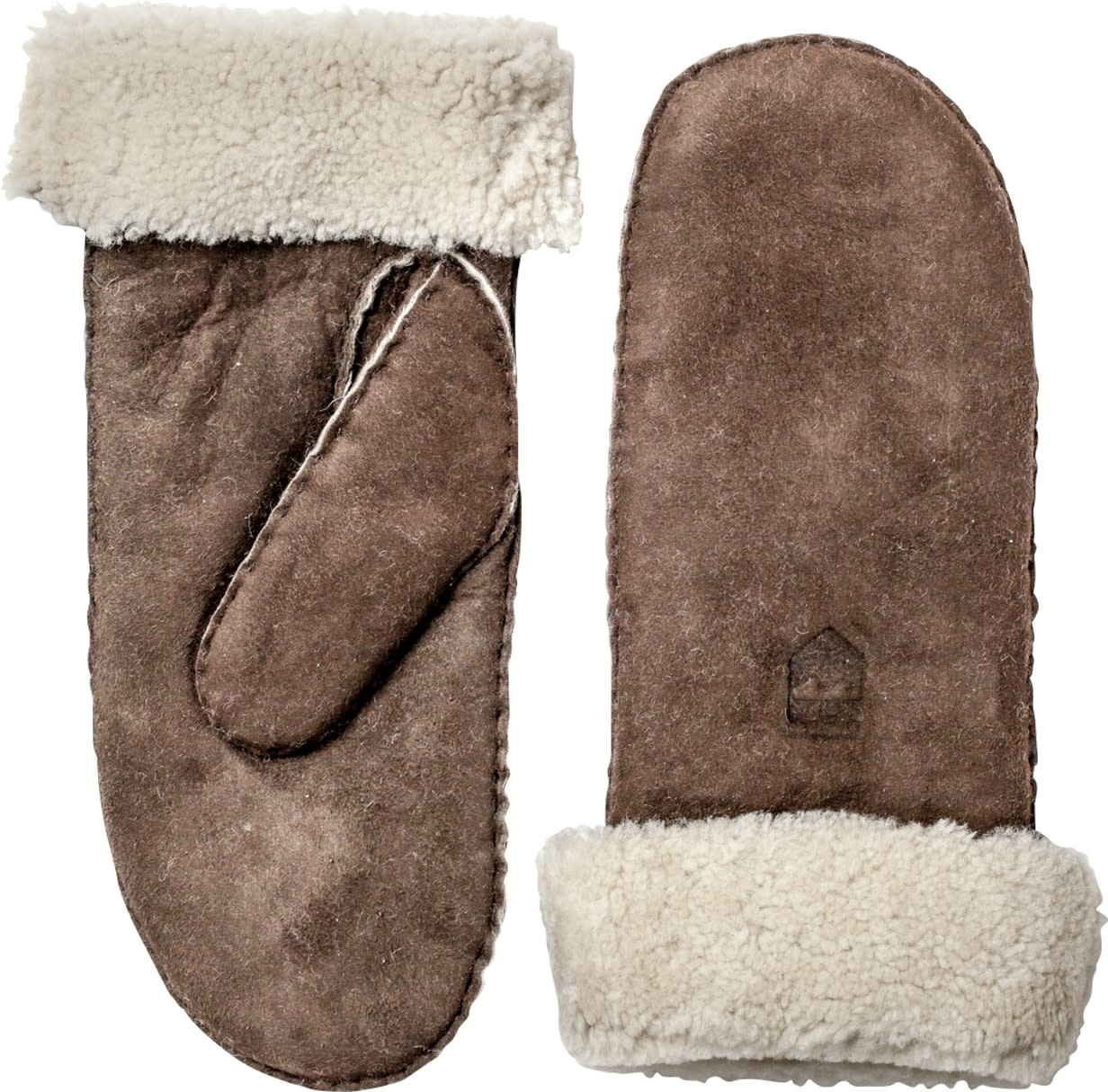 Sheepskin Leather Mitt Espresso Brown-2