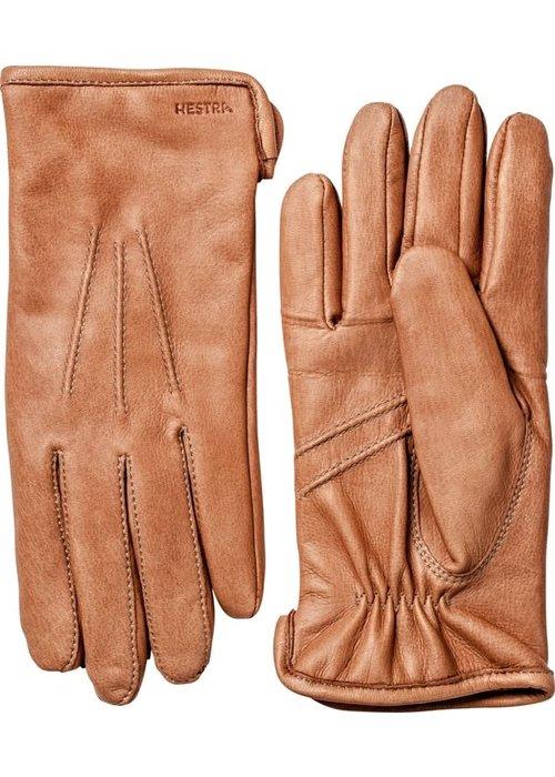Hestra Gloves Andrew Deerskin Leather Cork Brown