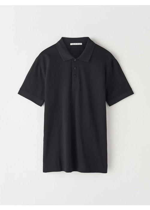Tiger Of Sweden Darios Black Jersey Flat Collar Polo
