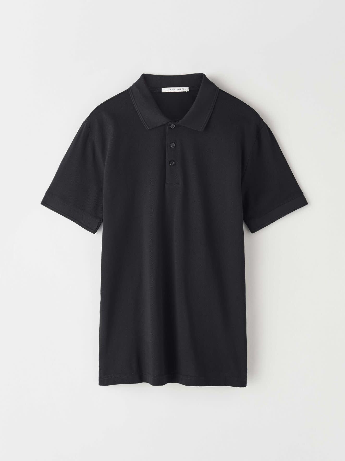 Darios Black Jersey Flat Collar Polo-1