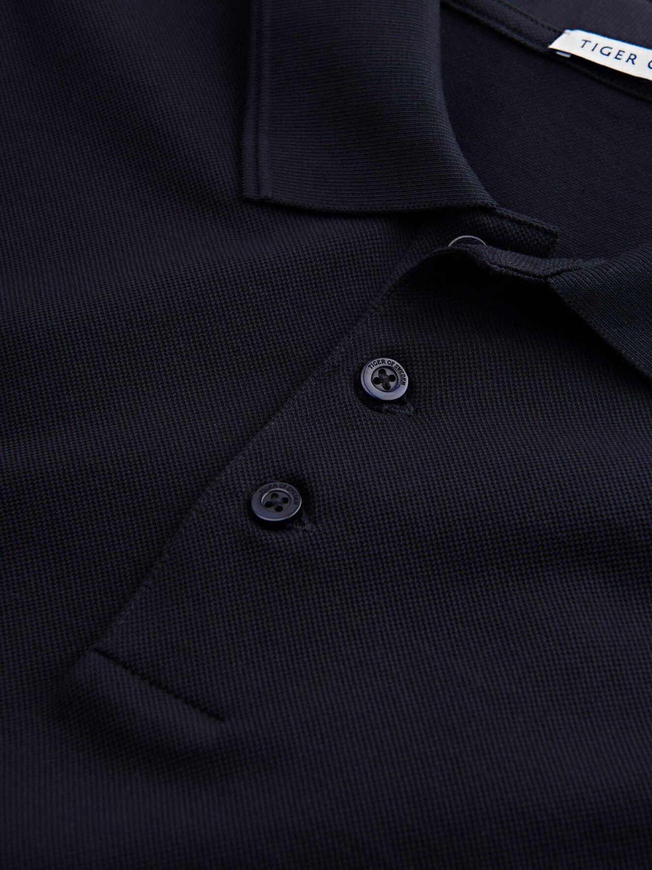 Darios Black Jersey Flat Collar Polo-2