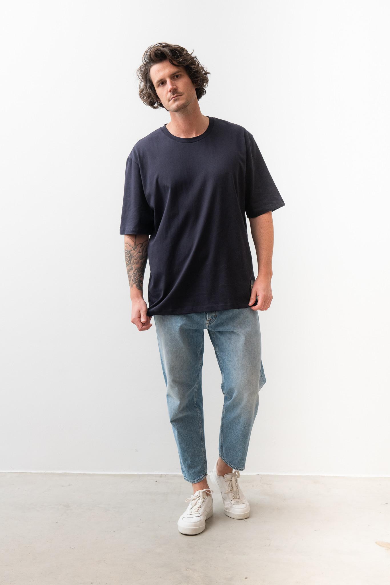 Pro Deep Well Navy Box Fit T-shirt-1
