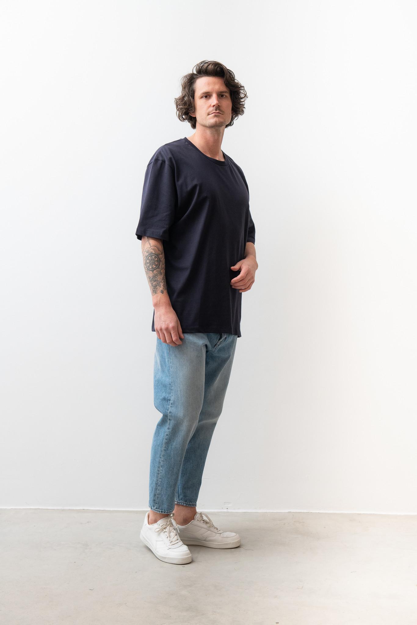 Pro Deep Well Navy Box Fit T-shirt-3