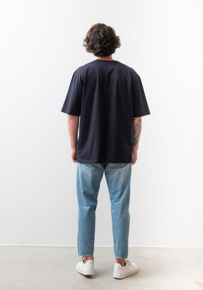 Pro Deep Well Navy Box Fit T-shirt