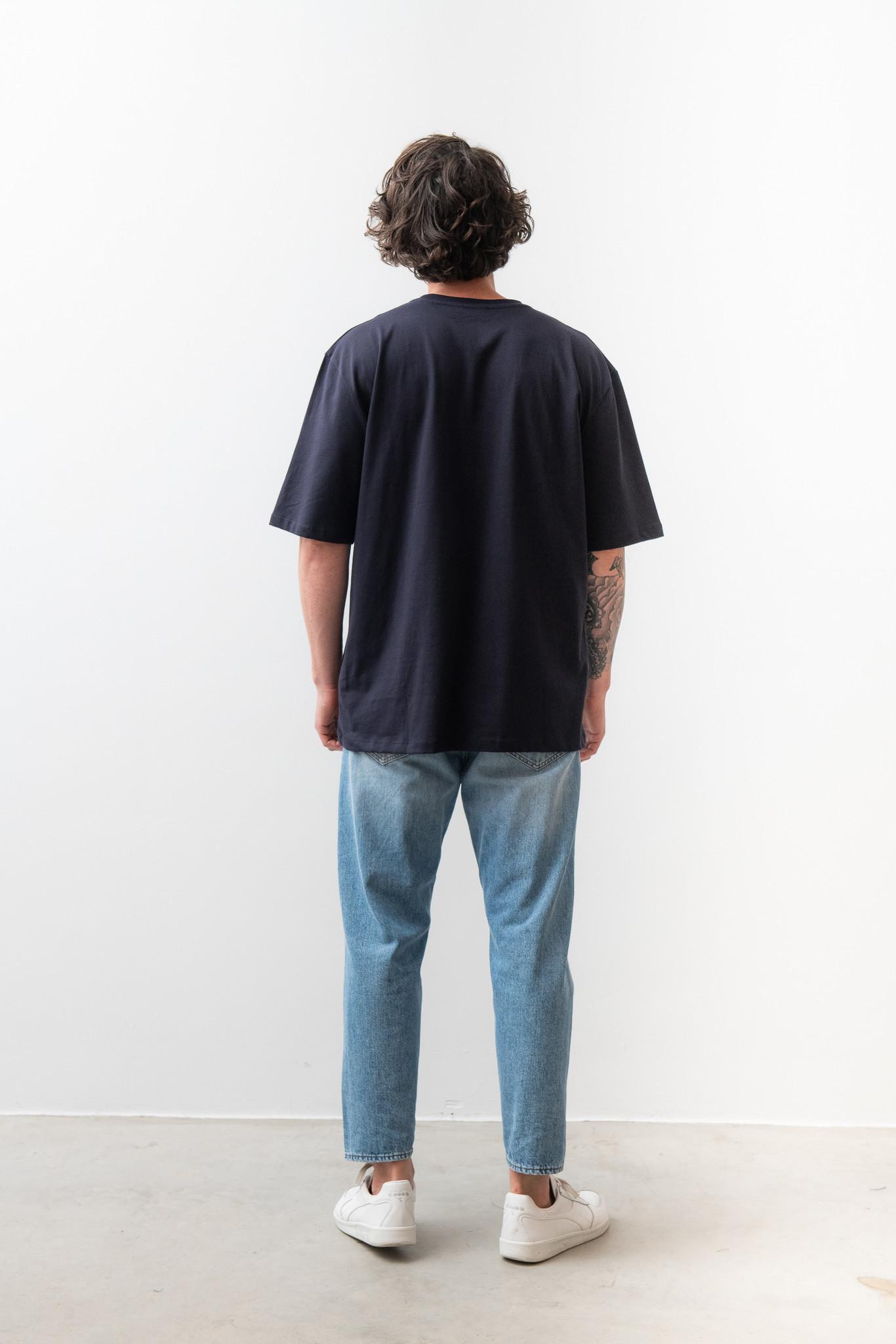 Pro Deep Well Navy Box Fit T-shirt-4
