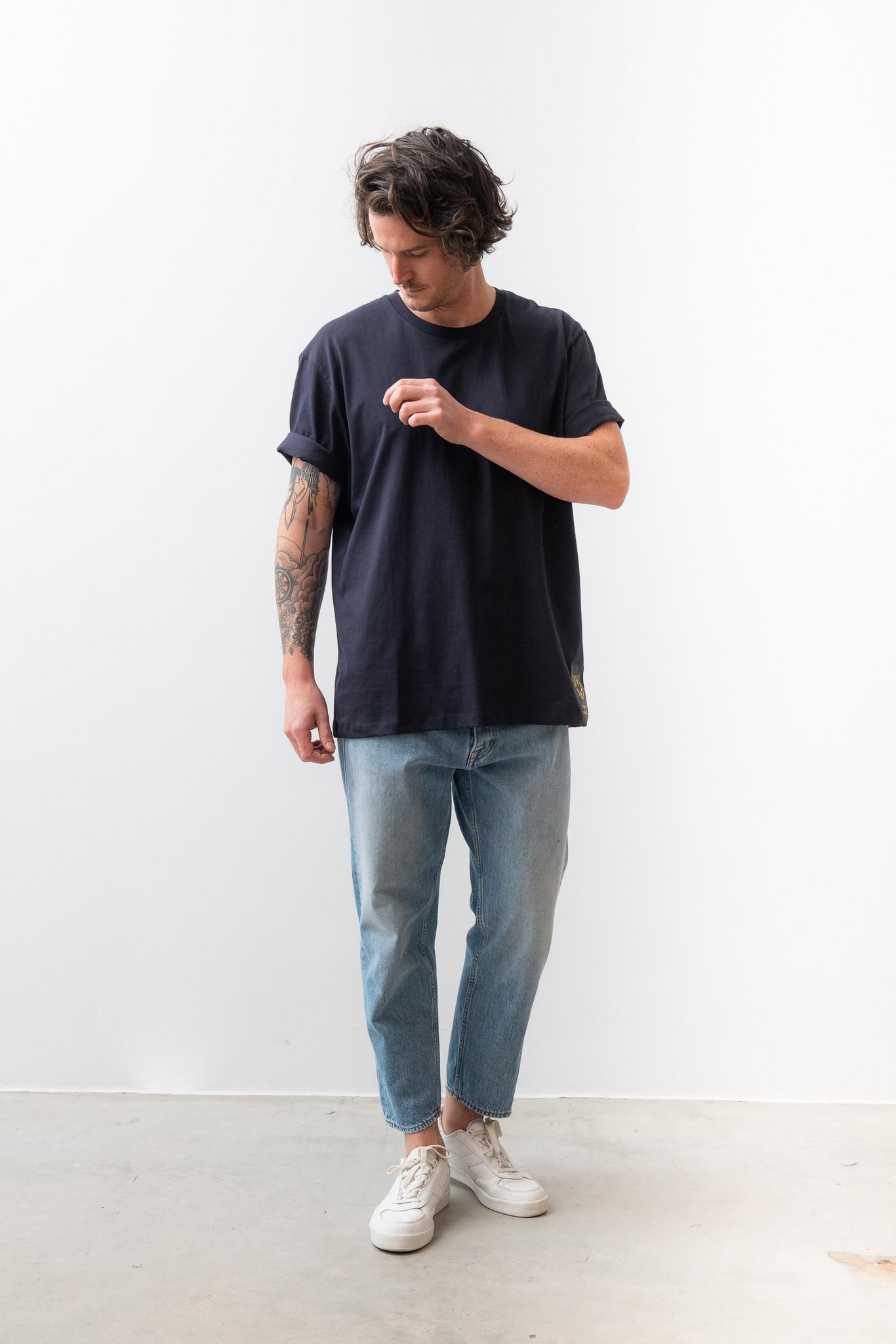 Pro Deep Well Navy Box Fit T-shirt-6