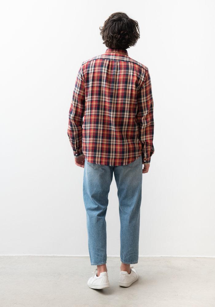 Lynch Red And Navy Checker Shirt