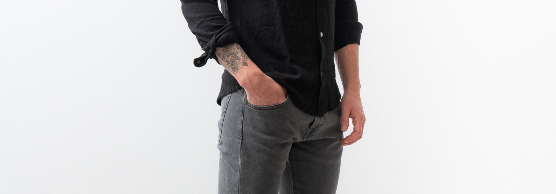 Lagos Button Down Shirt Black