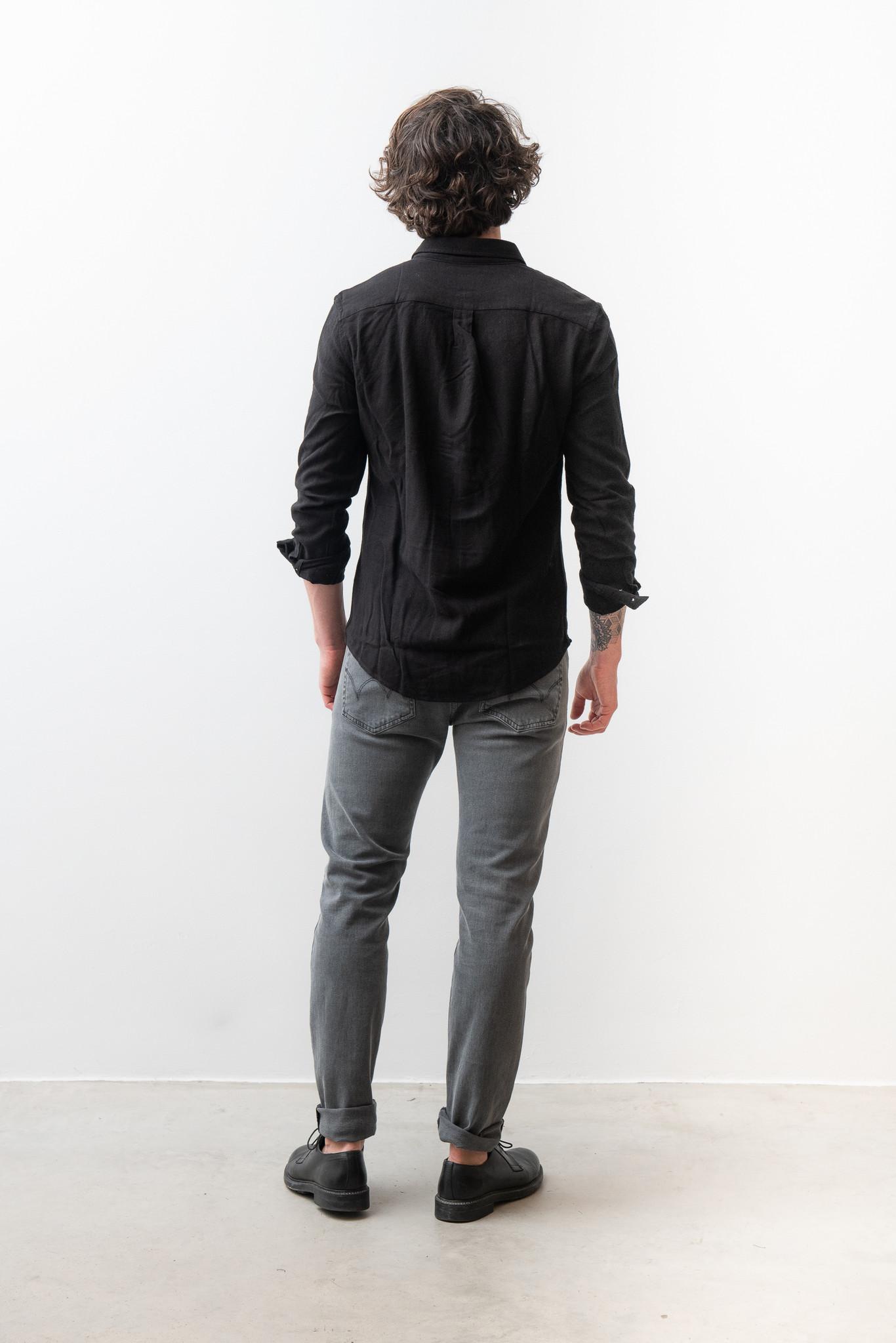 Lagos Button Down Shirt Black-4
