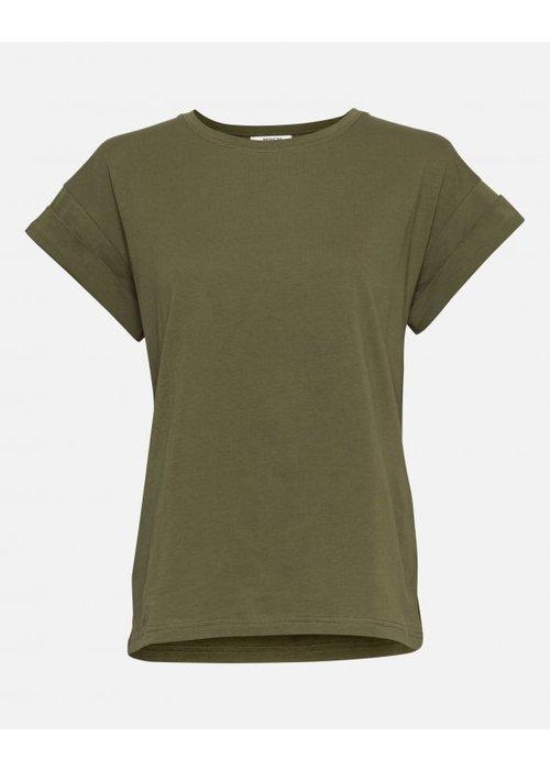 Moss Copenhagen Alva T-shirt Capulet Olive Green