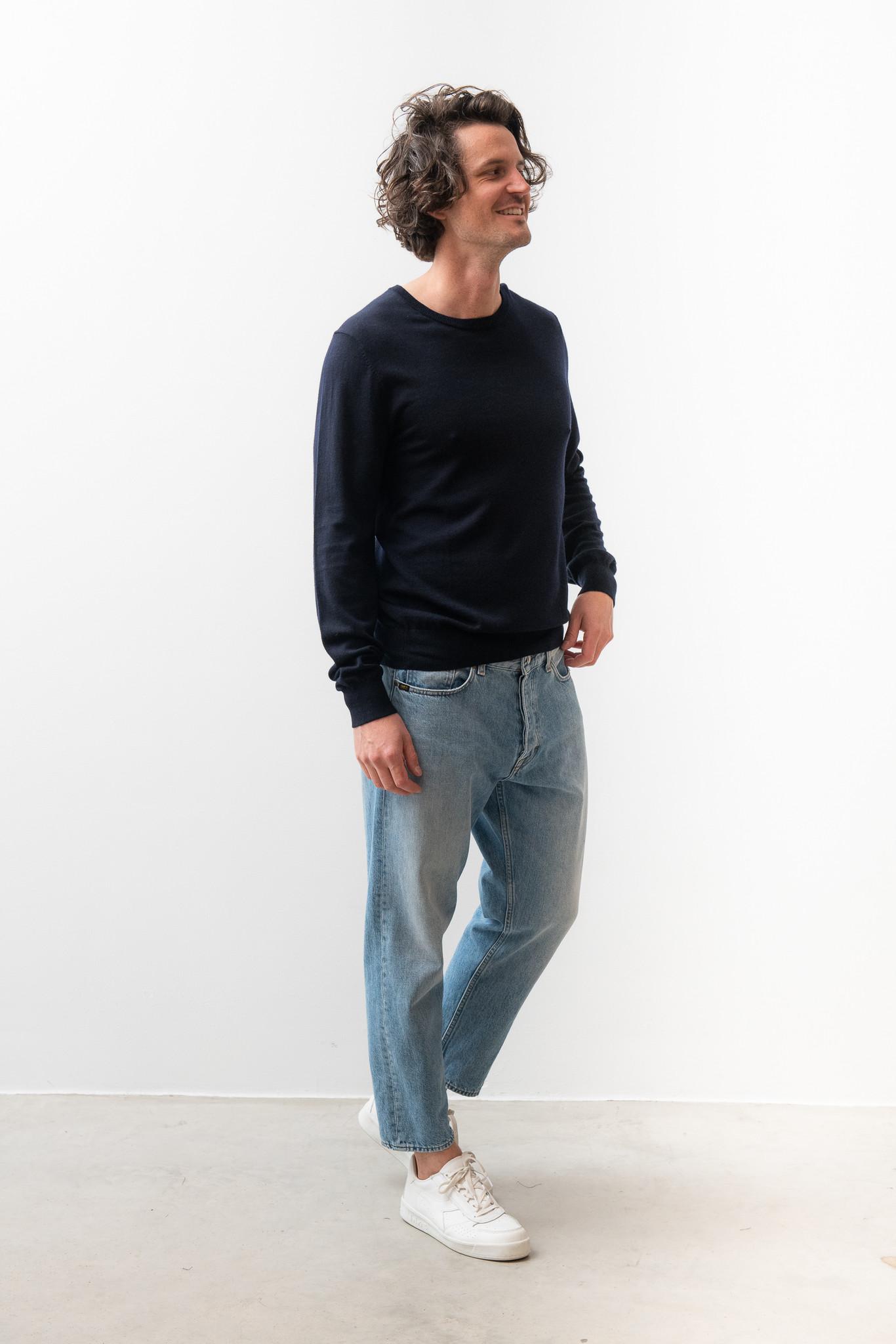 Matias Fine Italian Wool Knit Light Ink-5