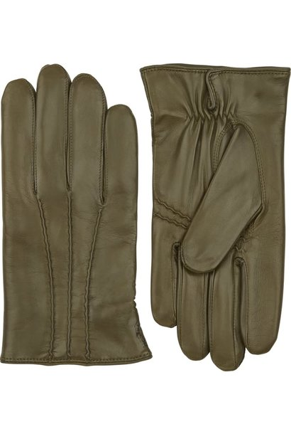 William Loden Classic Hairsheep Leather Gloves Green