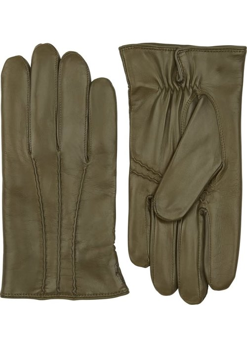Hestra Gloves William Loden Classic Hairsheep Leather Gloves Green