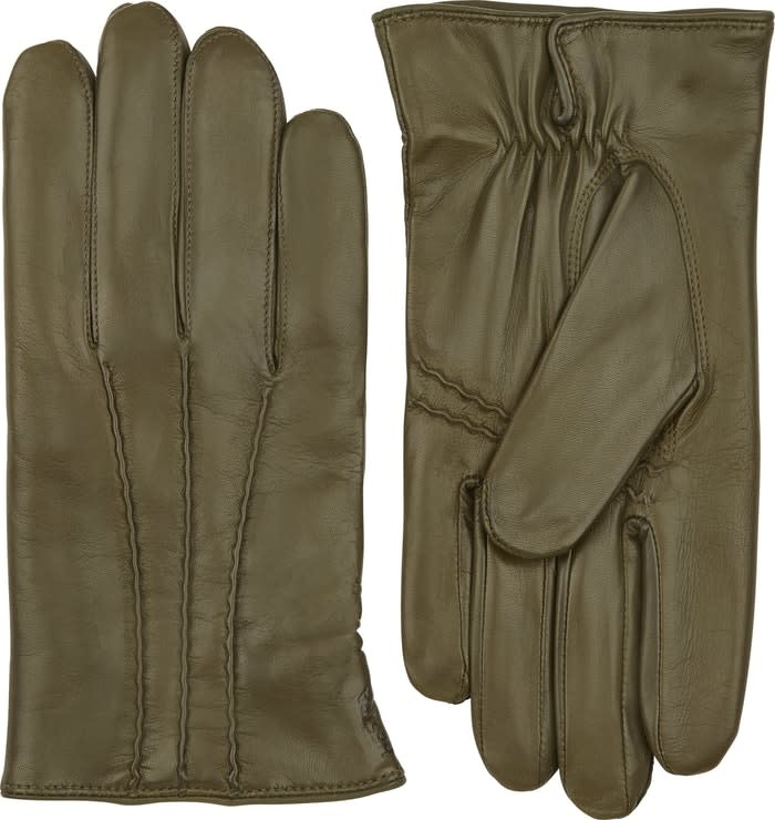 William Loden Classic Hairsheep Leather Gloves Green-2