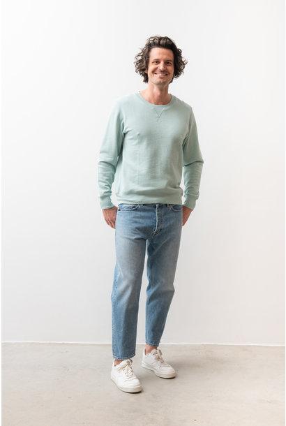 Lexxus Cotton Fleece Frosted Green Sweater