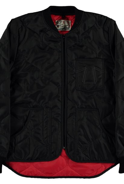 Frostbite Quilted Black Nylon