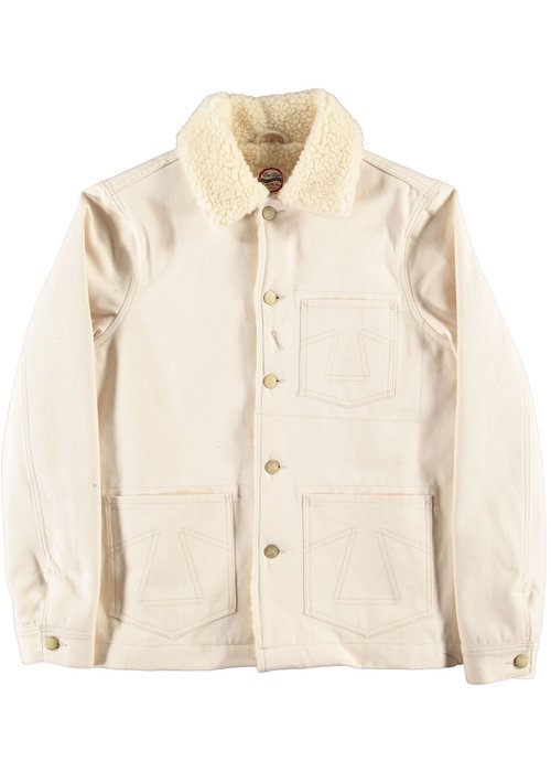 Eat Dust Chore 673 Jacket Snow Off White Sherpa