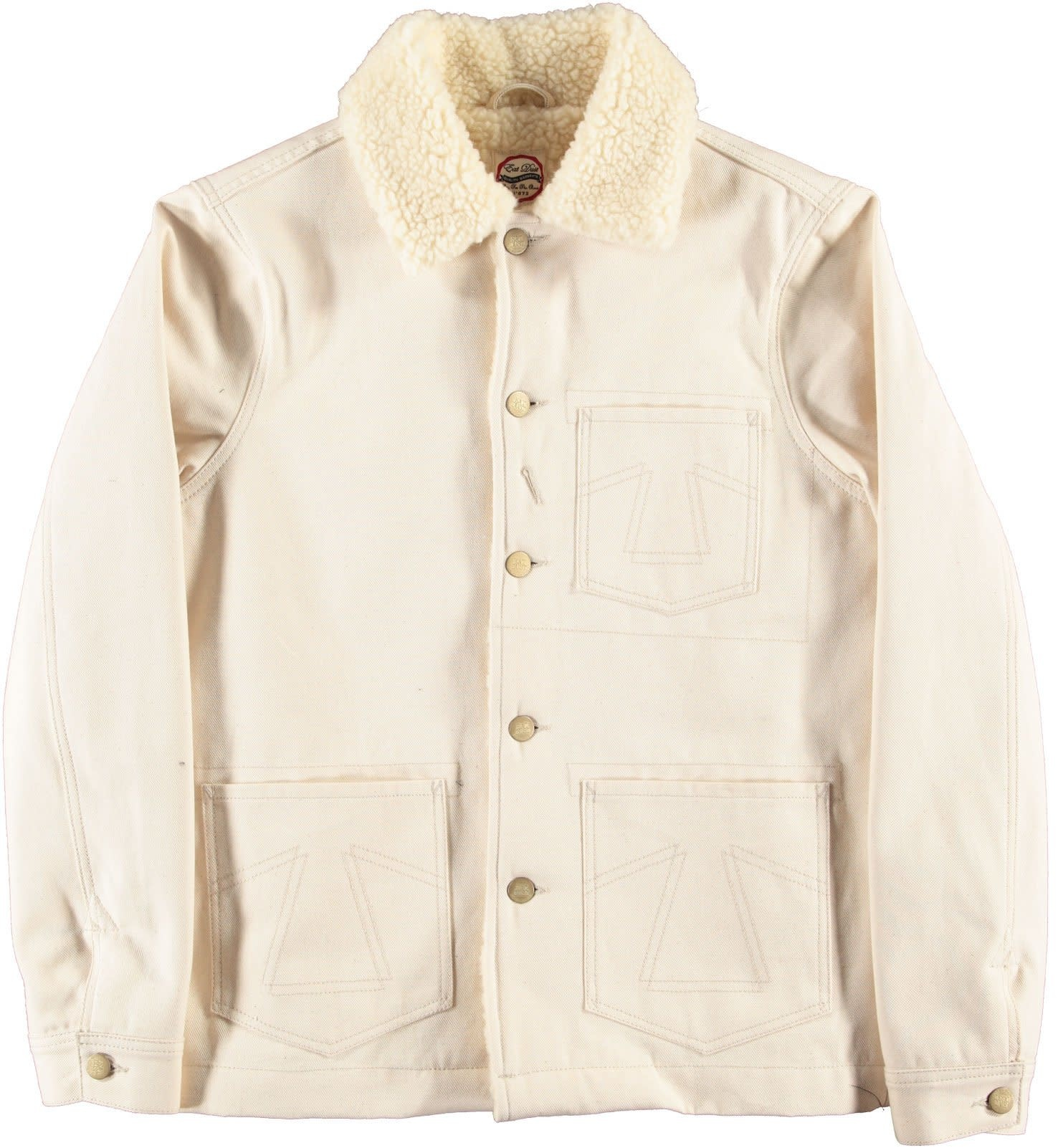 Chore 673 Worker Jacket Snow Off White Sherpa-1