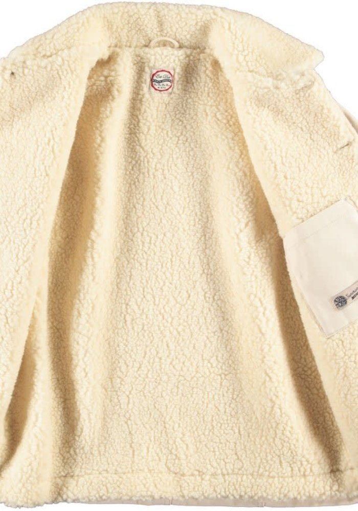 Chore 673 Worker Jacket Snow Off White Sherpa